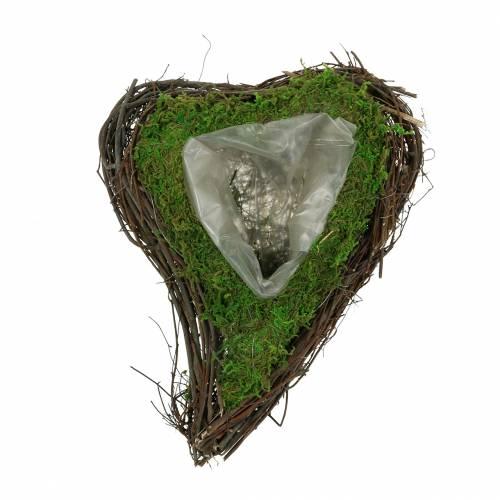 Serce roślinne winorośl, mech 22cm x 28cm H8cm