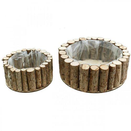 Podstawka okrągła kora drewniana dekoracja Ø34/24cm zestaw 2 szt.