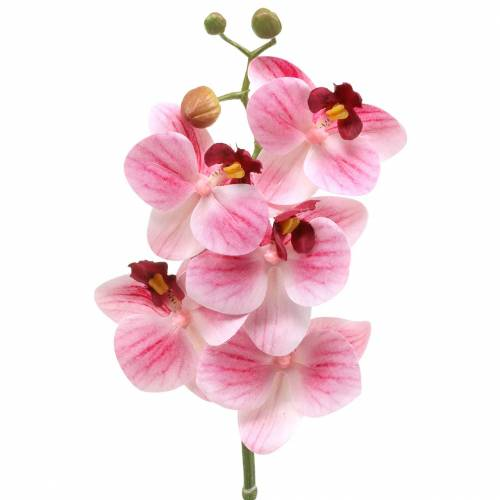 Sztuczna gałąź orchidei Phaelaenopsis różowy H49cm