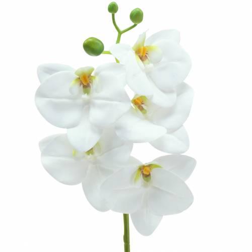 Orchidea sztuczna gałązka Phaelaenopsis biała H49cm