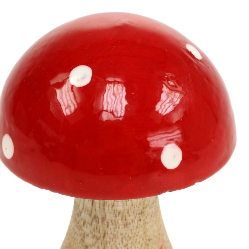 Muchomor drewniany czerwony 11,5cm