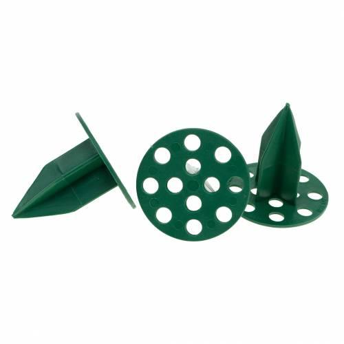 OASIS® Plastikowy świecznik Pini Extra zielony Ø4,7cm 50 szt