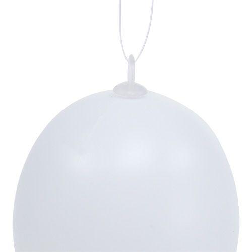 Jajko plastikowe do zawieszenia 6cm białe 12szt