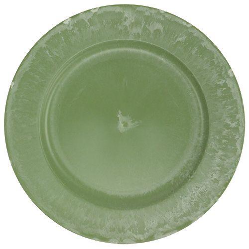 Talerz płytki zielony Ø25cm