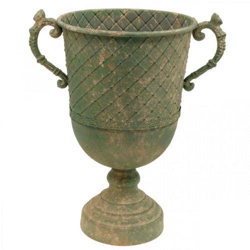 Metalowy kubek do sadzenia, kubek z uchwytami, sadzarka Ø25cm H43cm