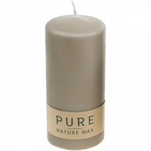 Pure Pillar Candle Brown 130/60 Natural Wax Candle Zrównoważony wosk stearynowy i rzepakowy