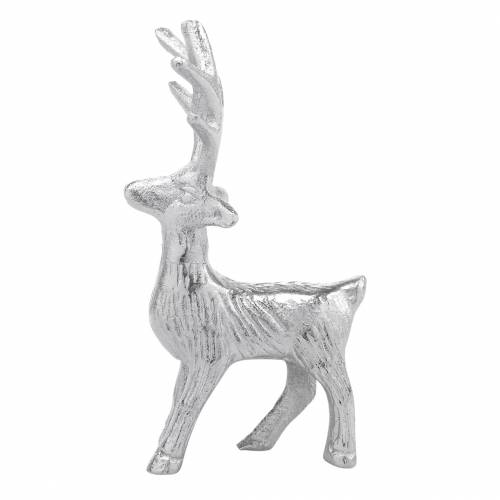 Deco Renifer Srebrny Metal 6,5×H12,5cm 3szt.