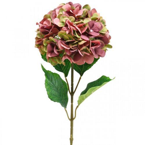 Hortensja Sztuczna Różowa, Bordowa Sztuczny Kwiat Duży 80cm