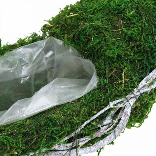 Wieniec z mchu Pierścień do sadzenia z winoroślą i mchem zielony, biały Ø35cm