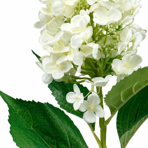 Hortensja wiechy kremowo-biała, sztuczna hortensja, kwiat jedwabiu 98cm