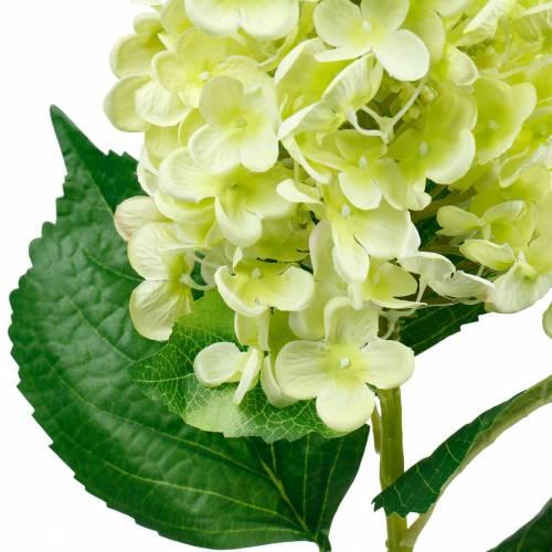 Sztuczna hortensja wiechowa, hortensja zielona, kwiat jedwabiu wysokiej jakości 98cm