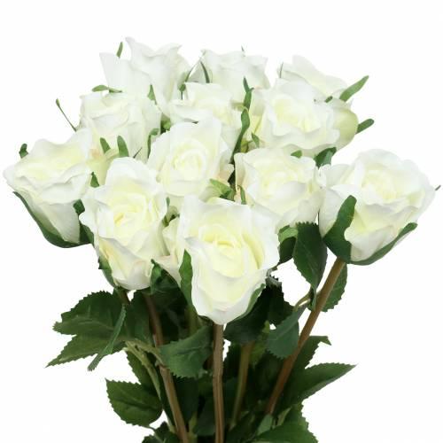 Róża biała 42cm 12szt