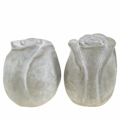 Dekoracja grobu róża dekoracja grobu beton H10cm 4szt.