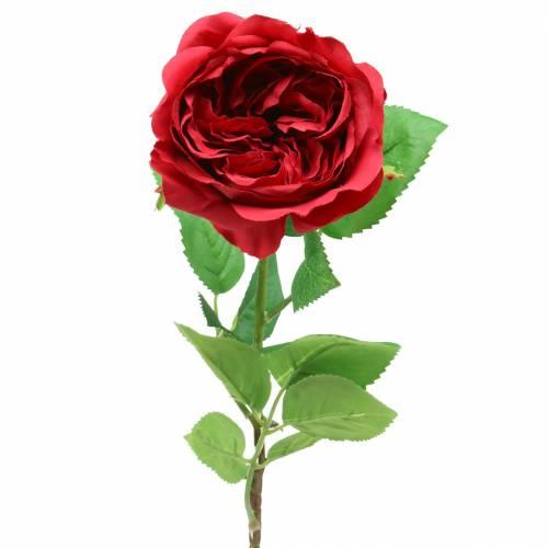 Róża Sztuczny Kwiat Czerwony 72cm