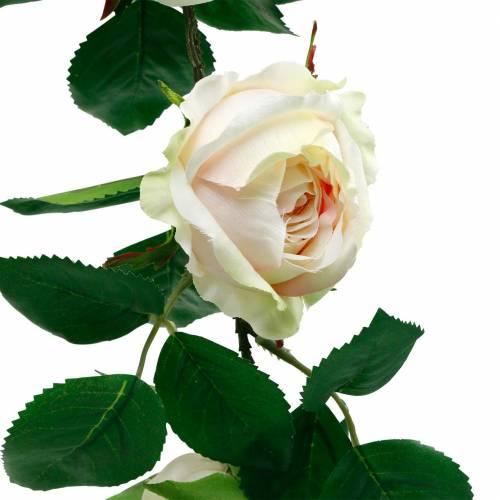 Romantyczny wianek różany, jedwabny kwiat, sztuczna róża 160cm