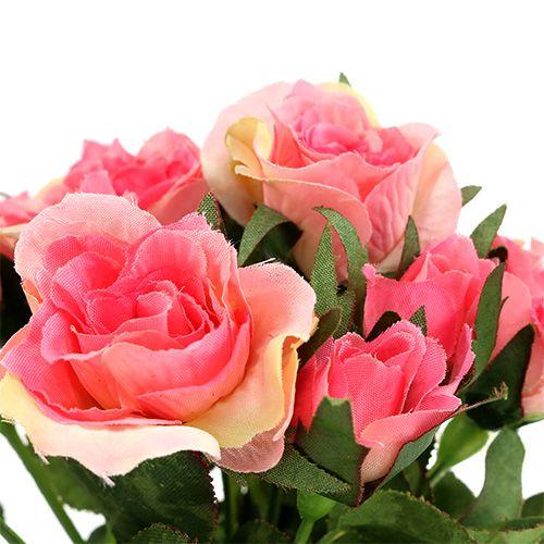 Bukiet róż w kolorze różowym L26cm 3szt.