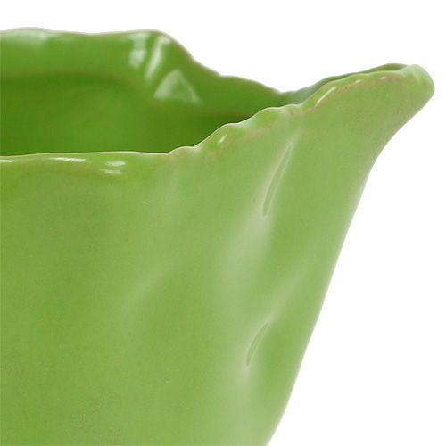 Miska ceramiczna w kolorze zielonym Ø13cm H6cm