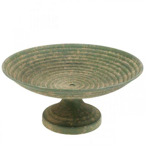 Misa z nóżką, dekoracyjna miska, naczynie metalowe antyczny wygląd Ø26cm H12cm