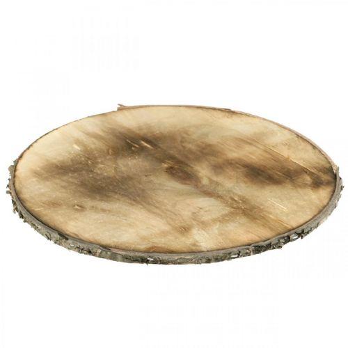 Deco Drewniany krążek płomieniowany podstawka sklejka rustykalna Ø25cm