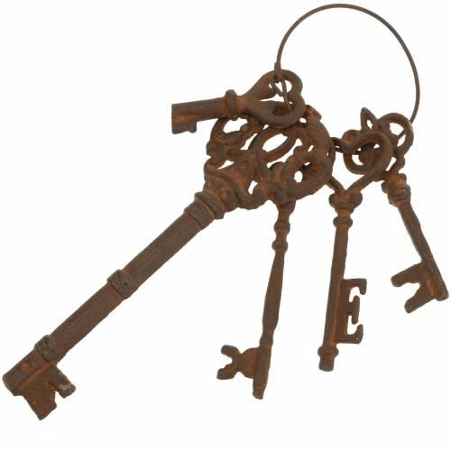 Brelok do kluczy żeliwny rdza 36cm 5 szt.
