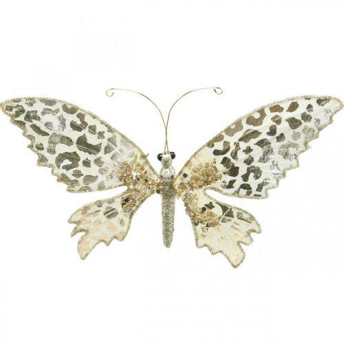 Motyl do spinania, dekoracja choinki, adwentu, dekoracja ślubna, klips do dekoracji L16cm W13cm