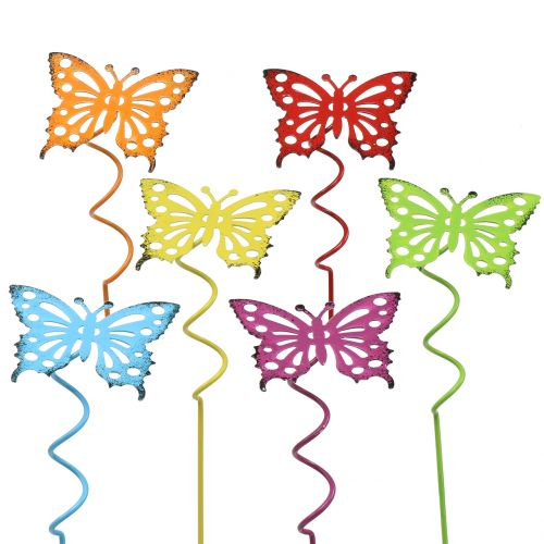 Zatyczka kwiatowa motyl kolorowa 22cm 12szt