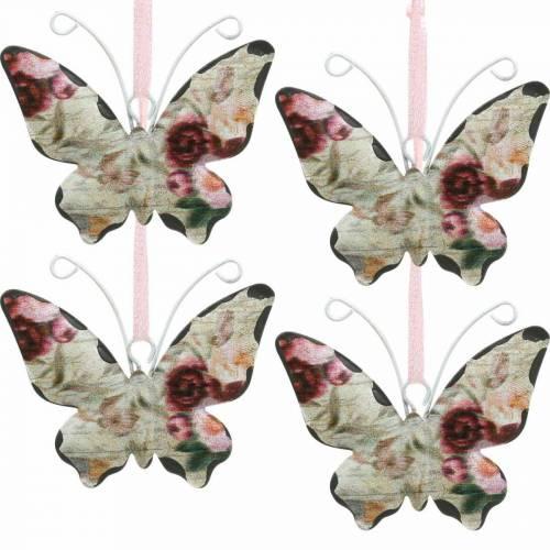 Motyl Wiszący Metal Deco Hanger 7cm Dekoracja wiosenna 12szt