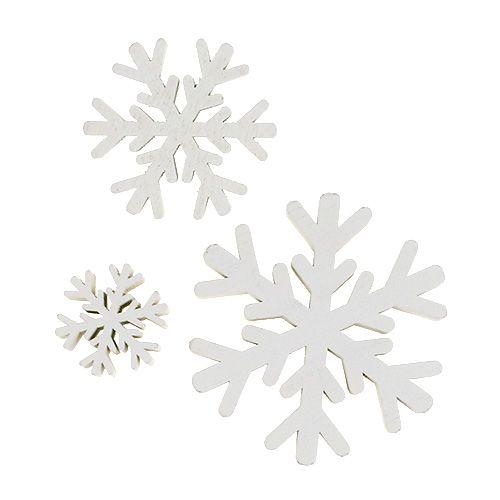 Płatki śniegu białe mix 3cm - 7cm 48szt