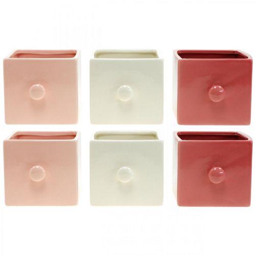 Szuflada na rośliny, szuflada dekoracyjna, doniczka ceramiczna, sadzarka 6szt.