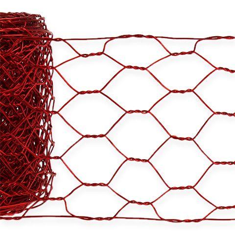 Oplot sześciokątny 50mm 5m Czerwony
