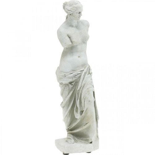 Wenus Statuetka Deco Rzeźba H29cm Szary Brązowy Figura dekoracyjna Ogród