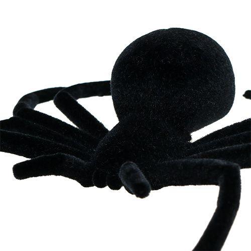 Pająk czarny 16cm flokowany
