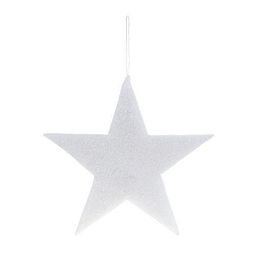 Gwiazda do zawieszenia biała 37cm L48cm 1szt.