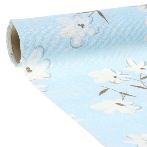 Tkanina dekoracyjna kwiaty niebieskie 30cm x 3m