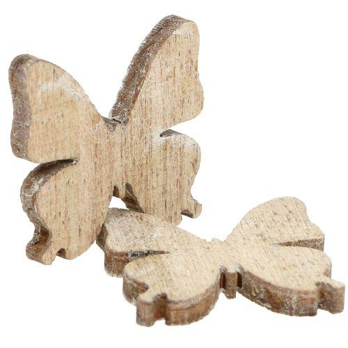 Dekoracja rozproszona motyl drewno natura 2cm 144szt