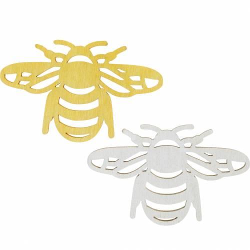 Posyp ozdoby pszczółka, wiosna, pszczoły drewniane do rękodzieła, dekoracja stołu 48szt