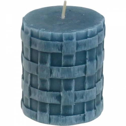 Świece filarowe Rustic Blue 80/65 świece rustykalne 2szt.