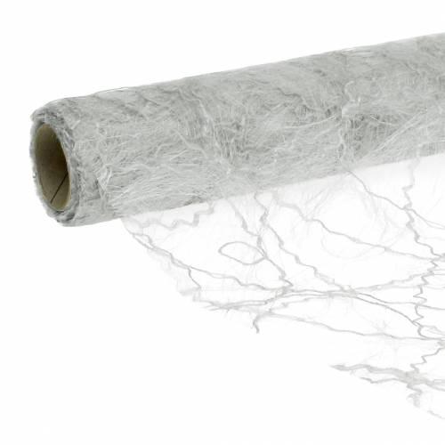 Wstążka na stół srebrna 30cm 25m