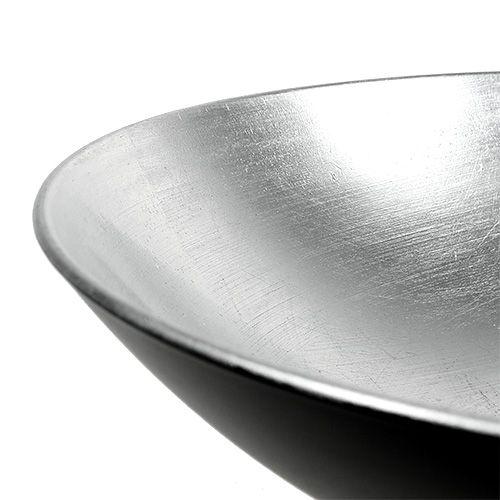 Dekoracja stołu miska srebrna Ø28cm plastikowa