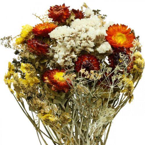 Suszony bukiet kwiatów słomka i lilak plażowy 125g suszona florystyka