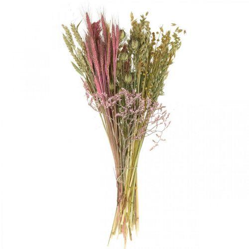 Suszone kwiaty DIY zestaw do bukietu różowy suszone kwiaty 60cm