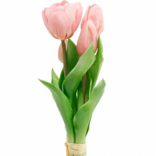 Tulip Bunch Real Touch, sztuczne kwiaty, sztuczne tulipany różowe