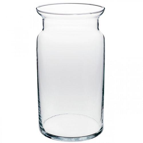 Wazon szklany, wazon dekoracyjny, świeca szklana Ø15,5cm H28cm