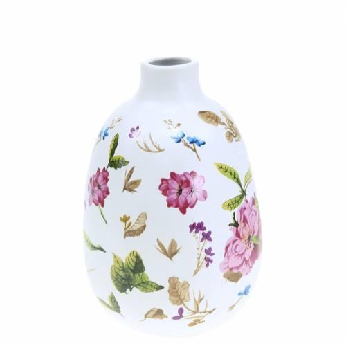 Wazon Deco Biały Kwiatowy Ø9cm H13,8cm