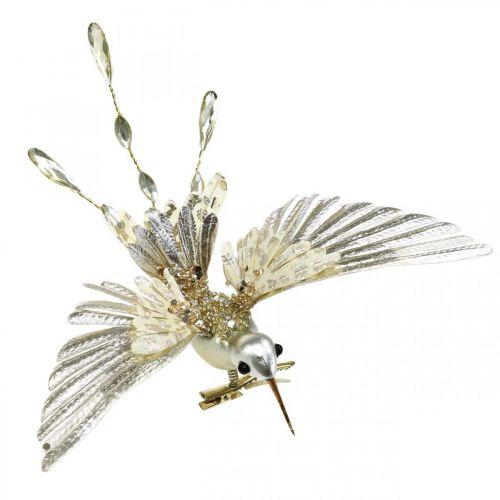 Koliber, Dekoracja choinkowa, Ptak Deco, Dekoracja świąteczna L20cm W20cm