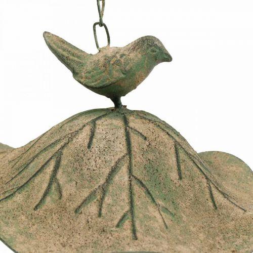 Wanna dla ptaków wisząca metalowa ogrodowa antyczny wygląd H28cm