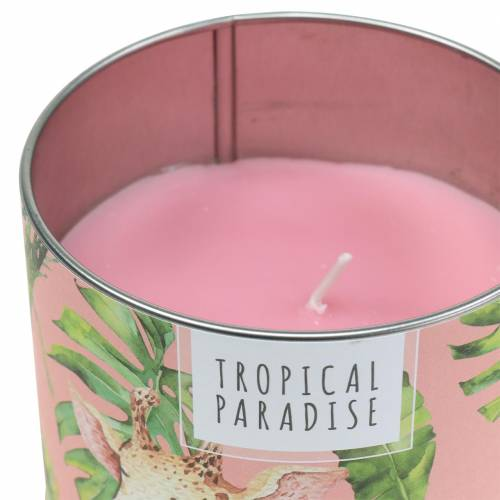 Świeca zapachowa w puszce Rainforest Pink Ø9,5cm H8cm