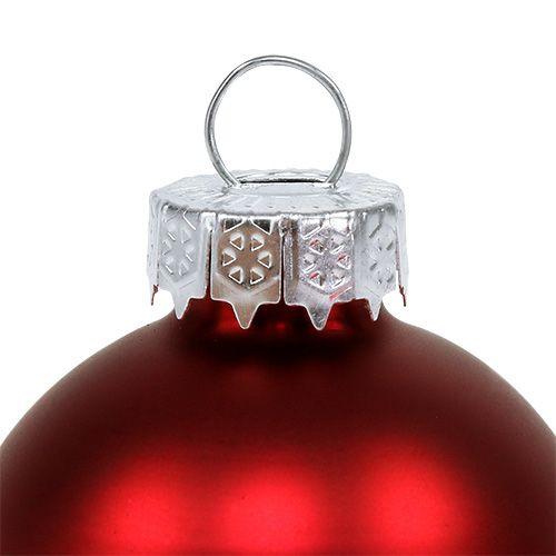 Kula świąteczna szklana Ø6cm Red Mix 24szt.