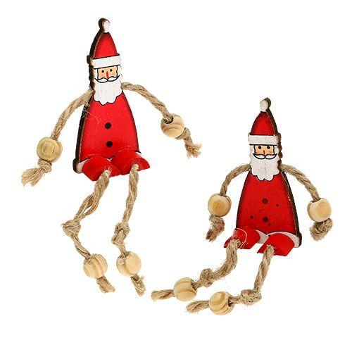 Figurka Świętego Mikołaja siedząca 6.5cm czerwona 12szt