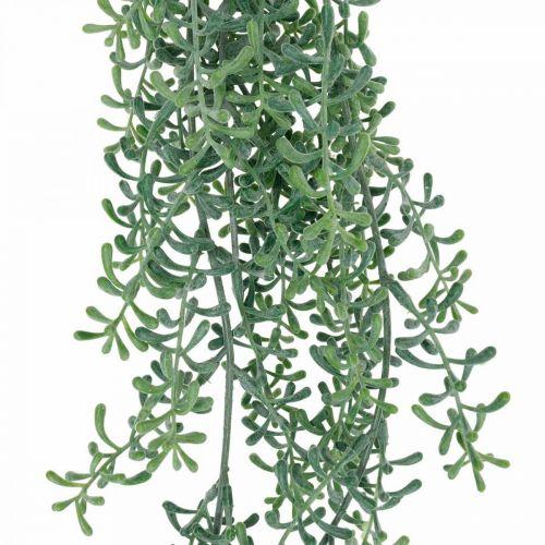 Zielona roślina wisząca sztuczna roślina wisząca z pąkami zielona, biała 100cm